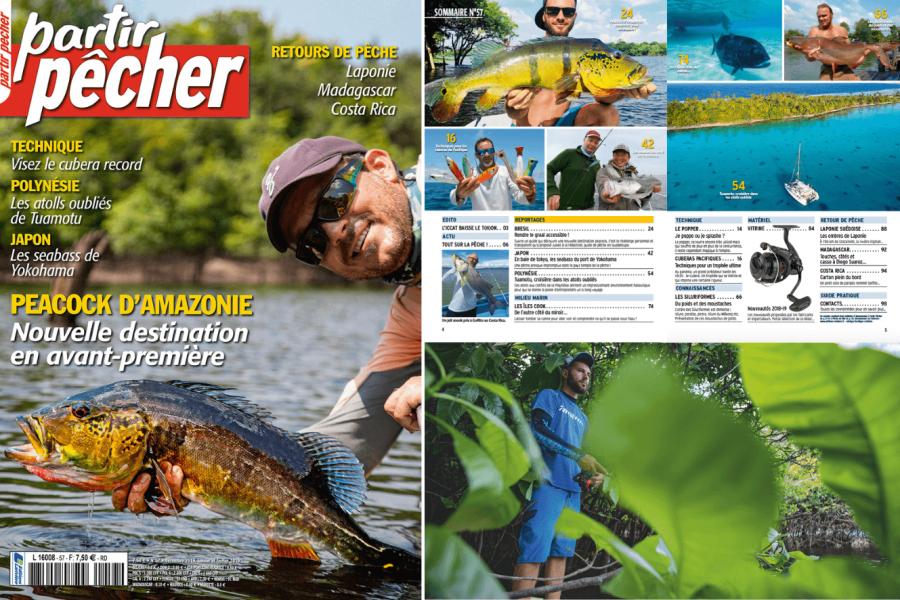 Première page du magazine «Partir pêcher»