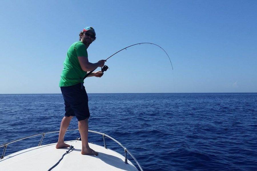 Sortie pêche au large avec les cannes de spining