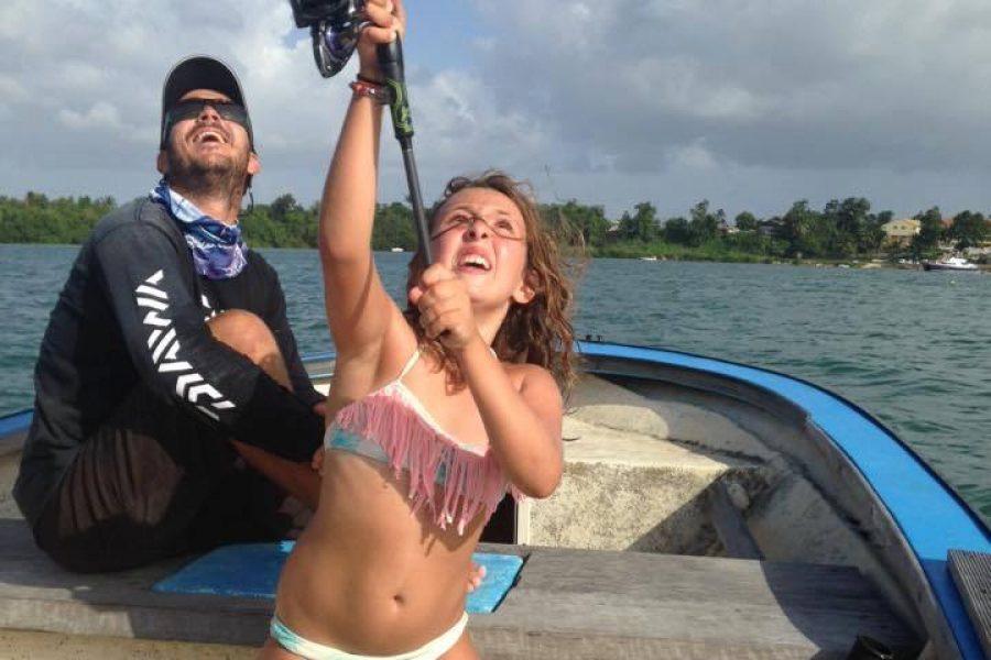 Balade pêche avec une super famille