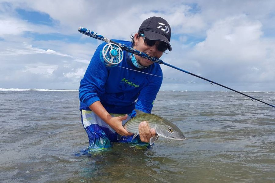 Bonefish à la mouche en Guadeloupe / Fly fishing in Guadeloupe