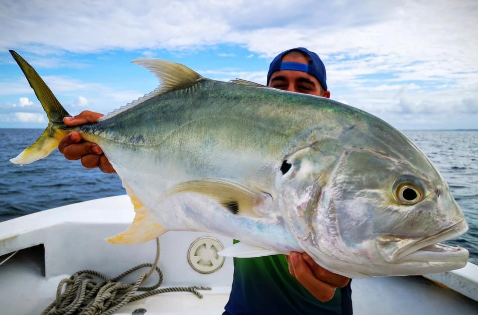 pêche dans le lagon de guadeloupe