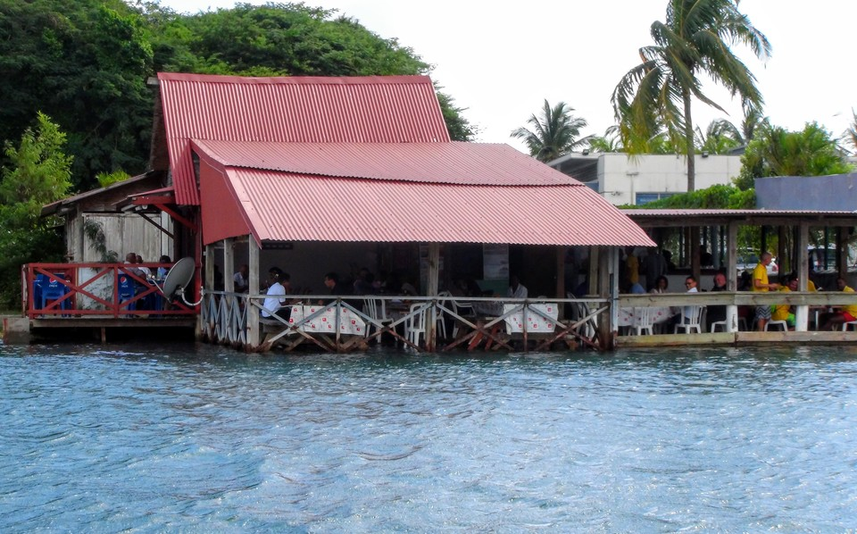 Eat local food in a french west indies restaurant