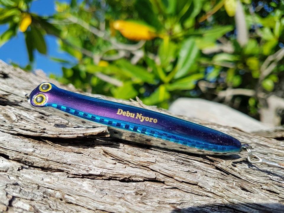 Debu Nyoro. Matériel de pêche aux leurres pour la Guadeloupe.