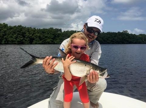 Les enfants adorent les poissons