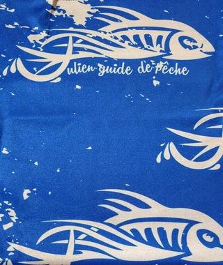 Tour de cou Kuruk Julien Guide de Pêche Bleu Blanc