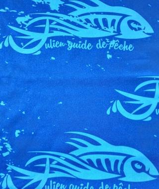 Tour de cou Kuruk Julien Guide de Pêche Bleu